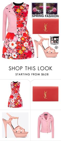 """""""You can cut all the flowers but you cannot keep Spring from coming. """" - Pablo Neruda"""" by karineminzonwilson ❤ liked on Polyvore featuring Victoria, Victoria Beckham, Yves Saint Laurent, Boutique Moschino, Chanel, Spring, Flowers, colorful and springdress"""