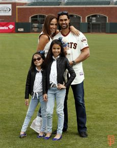 Angel, Winday, Suil and Briana Pagan pose during Family Day on June 25, 2014