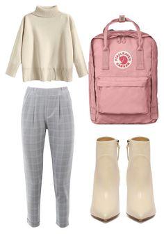 #ootd #fashion #clothes #outfit #bag #fjalravenkanken #greypants #sweter #beige