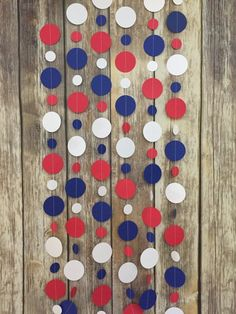 Snow White party, red white blue garland, patriotic decor, patriotic garland, USA garland, flag garl