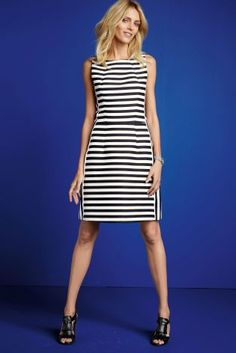 Buy Black And White Stripe Dress from the Next UK online shop