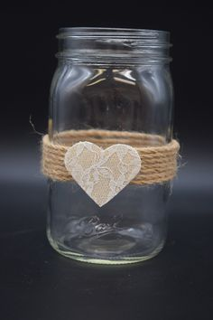 Rustic Mason Jars Lace and Twine Mason Jar Decor Rustic Wedding Decor Mason Jar Gifts Rustic Wedding Centerpieces Home Decor Lace Mason Jars, Rustic Mason Jars, Mason Jar Gifts, Mason Jar Candles, Mason Jar Diy, Wedding Mason Jars, Wedding Ideas With Mason Jars, Decorating With Mason Jars, Jars Decor