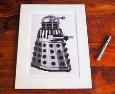"Doctor Who Dalek print of original Lego® mosaic (8"" x 12"") by OxfordBrickArt on Etsy"