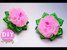 DIY.Butterfly hairclip.hair ornament. Bias binding - YouTube