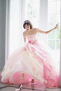How sweet is this utterly romantic pink ombre dress from A Liliale! » Praise Wedding Community