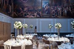 Wedding Breakfast in The Great Room RSA House  London Wedding