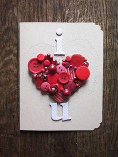 ぼたんのぽこぽこ感が見て、触って楽しめる❤︎とっておきの手作りバレンタインカードアイデア☆