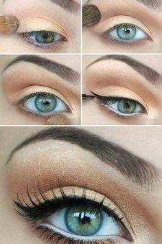 Natural eyeshadow for green eyes