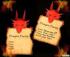 Dragon Birthday Party Invitations Print At Home