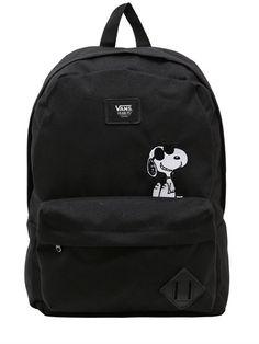 Vans Peanuts Old Skool Ii Backpack In Black Backpack Purse, Black Backpack, Mini Backpack, Under Armour Rucksack, Vans Rucksack, Mochila Adidas, Vans Bags, Disney Handbags, Backpack For Teens