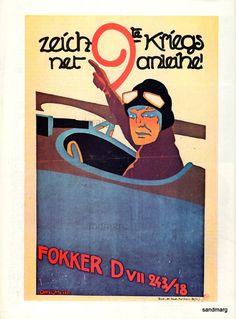 1918 German WWI propaganda poster.