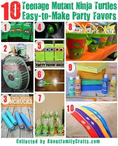 DIY Teenage Mutant Ninja Turtles Birthday Party Ideas – About Family Crafts ! Turtle Birthday Parties, 5th Birthday Party Ideas, Ninja Turtle Birthday, Ninja Turtle Party, 4th Birthday, Ninja Turtle Snacks, Carnival Birthday, Birthday Crafts, Teenage Mutant Ninja Turtles