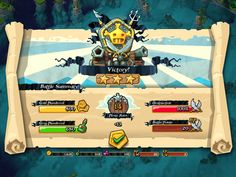 Plunder Pirates by Midoki - Combat Victory Results Screen - Game UI HUD Interface Art iOS Apps