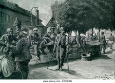 World War 1: Wounded Austro- Hungarian troops on the Italian Front. Illustration by Adolf G. Döring. November - Stock Image