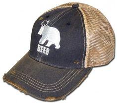 2138bd5d8 Half Deer Half Bear Washed Navy BEER Hat