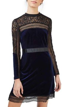 Topshop Lace & Velvet Dress