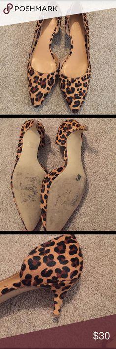 J. Crew animal print heels Comfortable heels only worn once! J. Crew Shoes Heels