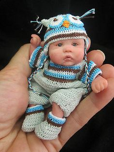 ooak mini baby doll hand sculpted by Susana Langa