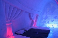 Ice Hotel – Finland. I'd probably freeze my butt off! How do ppl work there and not get hypothermia?!?!