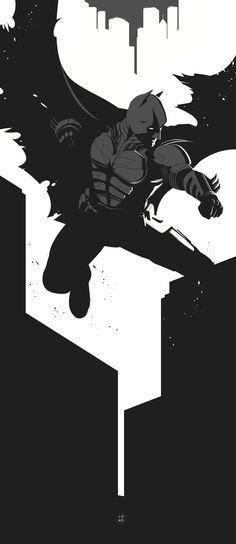 The Dark Knight Rises by Jonathan Mahoney, via Behance