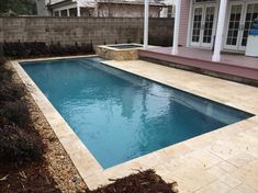 stupendous custom travertine pool coping with rectangular swimming pool shapes also spa with french grey plaster