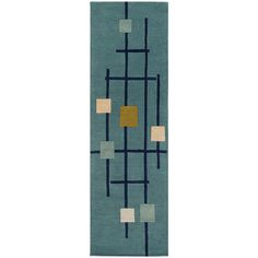 Decor 140 Faizod Hand Tufted Rectangular Runner ($345) ❤ liked on Polyvore featuring home, rugs, rectangle rugs, rectangular rugs and rectangular area rugs