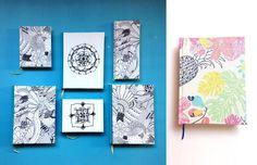 LA ESTANTERÍA Cuadernos personalizados, hechos a mano y con diseños originales y únicos. http://charliechoices.com/la-estanteria/