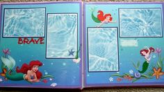 Disney Princess Ariel The Little Mermaid Premade Scrapbook Page | eBay