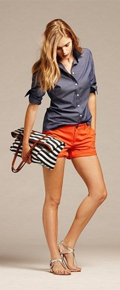 150 pretty casual shorts summer outfit combinations (176)