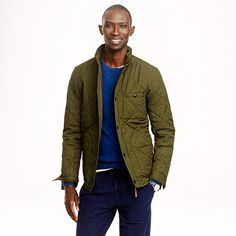 Broadmoor quilted spring jacket. Vintage navy color, size tall L, $218 (30% off with code JINGLE). JCrew link: https://www.jcrew.com/mens_category/outerwear/menstall/PRD~B0511/B0511.jsp?color_name=vintage-navy