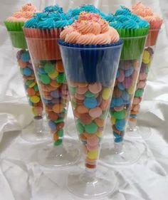 In en om die huis: Cupcake en lekkergoed glasies