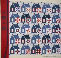 Schoolhouse quilt by Rose Marie