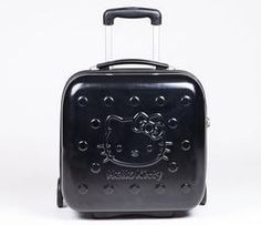 Hello Kitty Compact Rolling Suitcase: Black