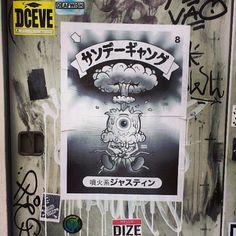 #tokyo #streetart #wheatpaste #poster #meltymisfits #garbagepailkids photo: 44low