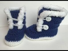 3-6 months Crocheted fuzzy/ Fur boots | Video Tutorial - YouTube