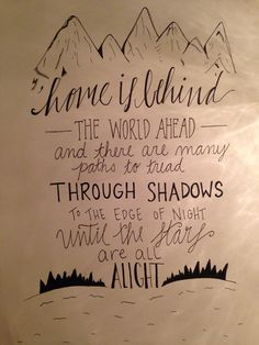 Home is Behind The World Ahead Calligraphy