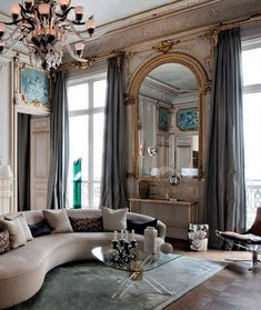 Parisian apartment - Elle Decor / this is exactly how I'd like my apartment to look if I had one in Paris