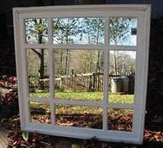 Ladies room (30 x 30) Mirror cream cottage distressed  30 x 30  square  .french country $195