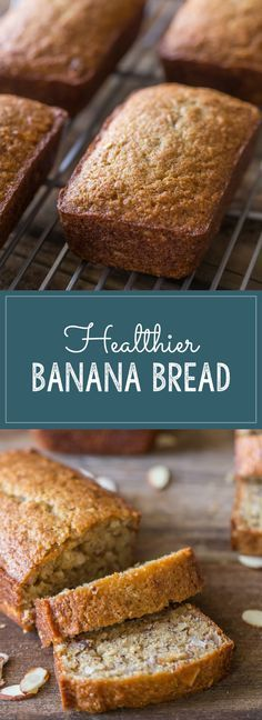 Our favorite banana bread made with Greek yogurt, coconut oil, and white whole wheat flour.