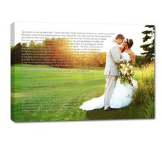 Personalized your photos printed on canvas with words! Great wedding gift words to first dance or vows over photo #wedding #customcanvas Gallery Wall or Photo wall -