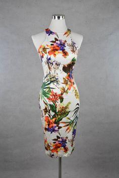Elegantes Sommerkleid mit Blumen Print von AX Paris
