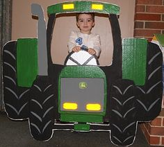 Great idea for a cardboard tractor