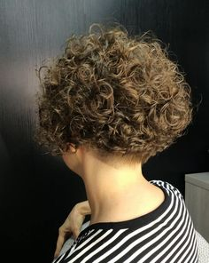 Shaved Curly Hair, Tight Curly Hair, Short Permed Hair, Curly Hair Cuts, Wavy Hair, Short Hair Cuts, Curly Hair Styles, Curly Pixie Haircuts, Permed Hairstyles