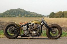 Bobber with a racer style