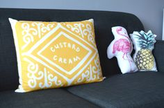 Pop of colour - fun soft furnishings