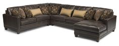 Flexsteel Furniture: Sectionals: Port RoyalLeather Sectional (1373-Sect)