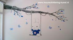 babykamer muurschildering nijntje
