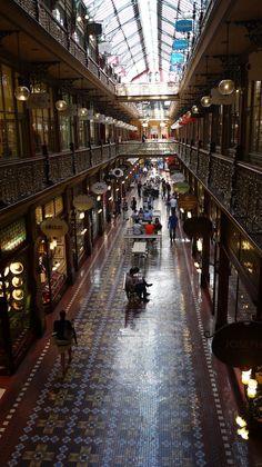 A historical shopping arcade in Sydney Australia