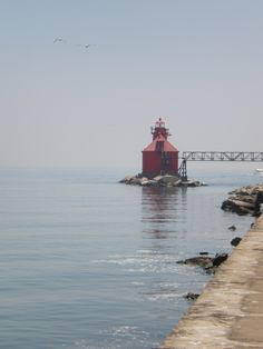 I could spend the rest of my life in Door County and be completely content. Door County Wisconsin, Sturgeon Bay, Great Lakes, Lighthouses, Golden Gate Bridge, Nautical, Dancing, Rest, Waves