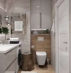 Startling Facts Regarding How to Create Bathroom That Fit Best Toilet Closet Unveiled - lowesbyte Minimal Bathroom, Modern Bathroom Decor, Bathroom Design Small, Bathroom Interior Design, Bathroom Furniture, Bathroom Toilets, Laundry In Bathroom, Master Bathroom, Bad Inspiration